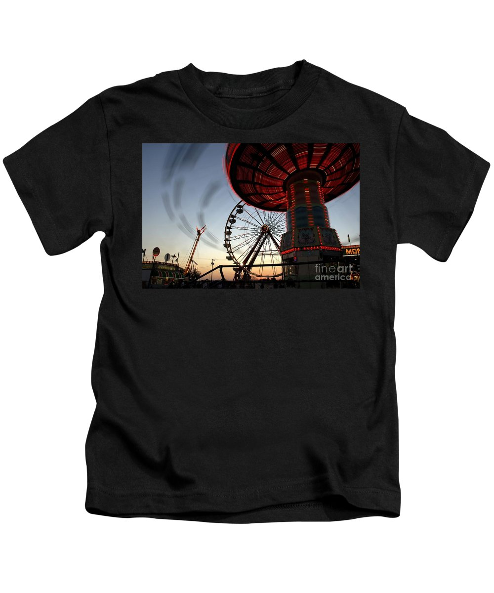 Fair Kids T-Shirt featuring the photograph Twirling Away by David Lee Thompson