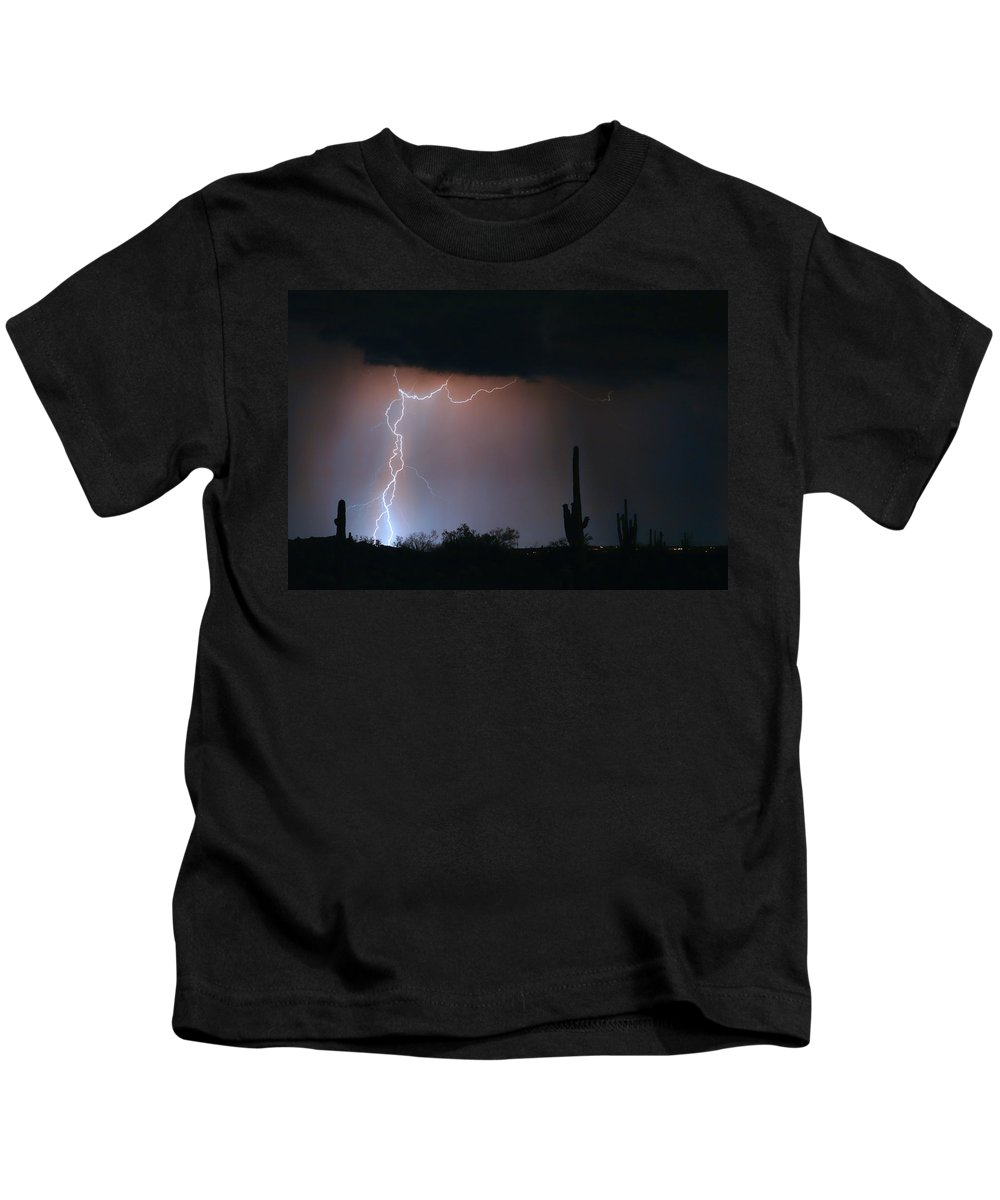 Lightning Kids T-Shirt featuring the photograph Twisted Storm by James BO Insogna