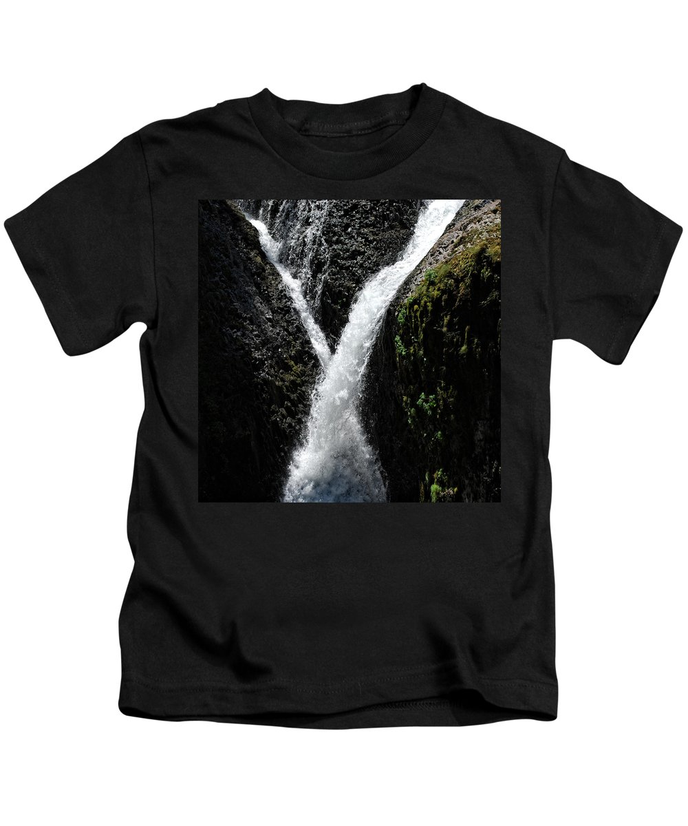 Columbia Gorge Kids T-Shirt featuring the photograph Twister Falls by Ingrid Smith-Johnsen