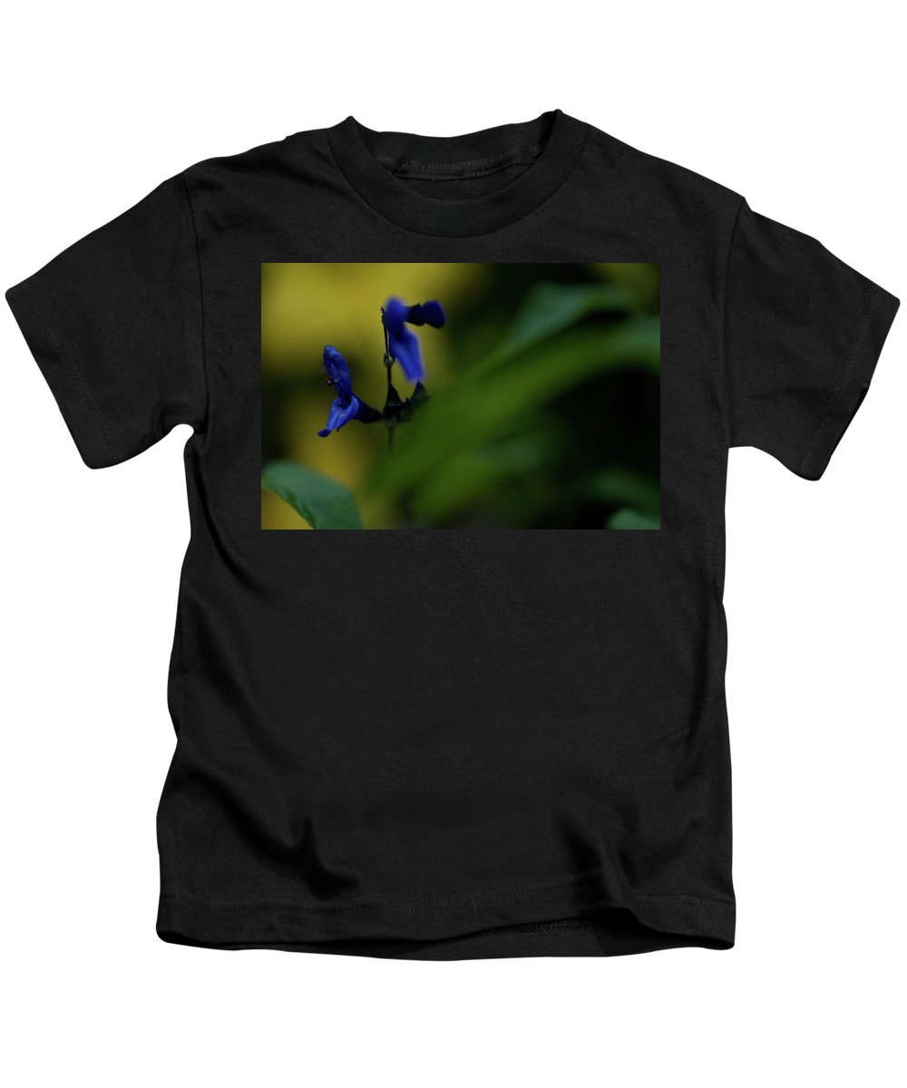wild Flowers Kids T-Shirt featuring the photograph Two Blue by Paul Mangold