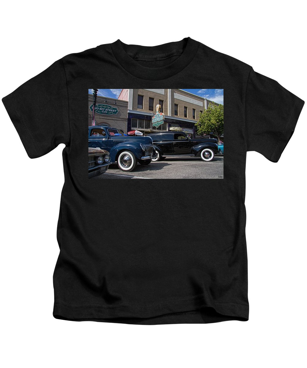Ford Kids T-Shirt featuring the photograph Two Cars by Nick Gray