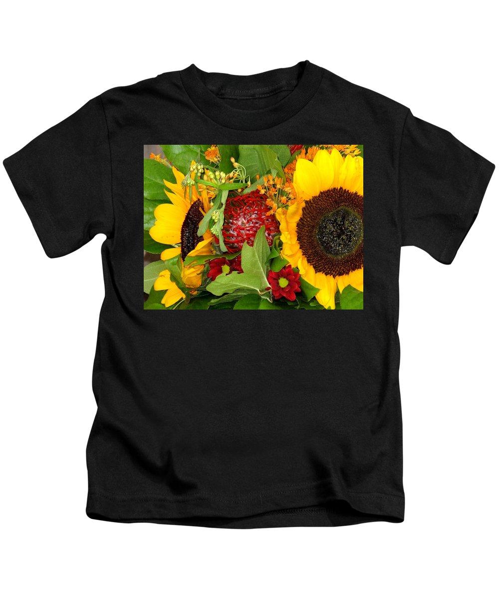 Sunflower Kids T-Shirt featuring the photograph Two Suns by Ian MacDonald