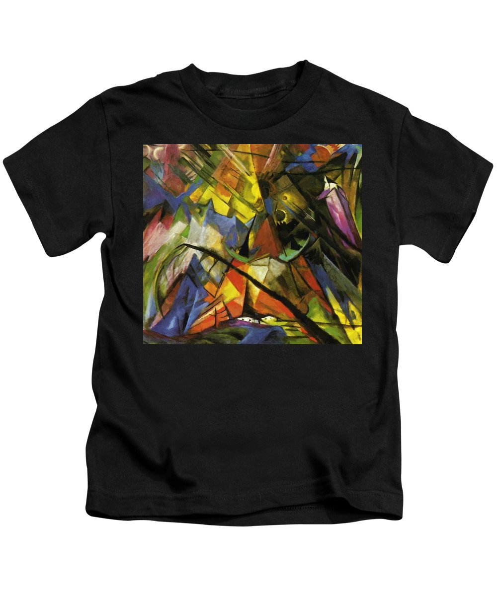 Tyrol Kids T-Shirt featuring the painting Tyrol 1914 by Marc Franz