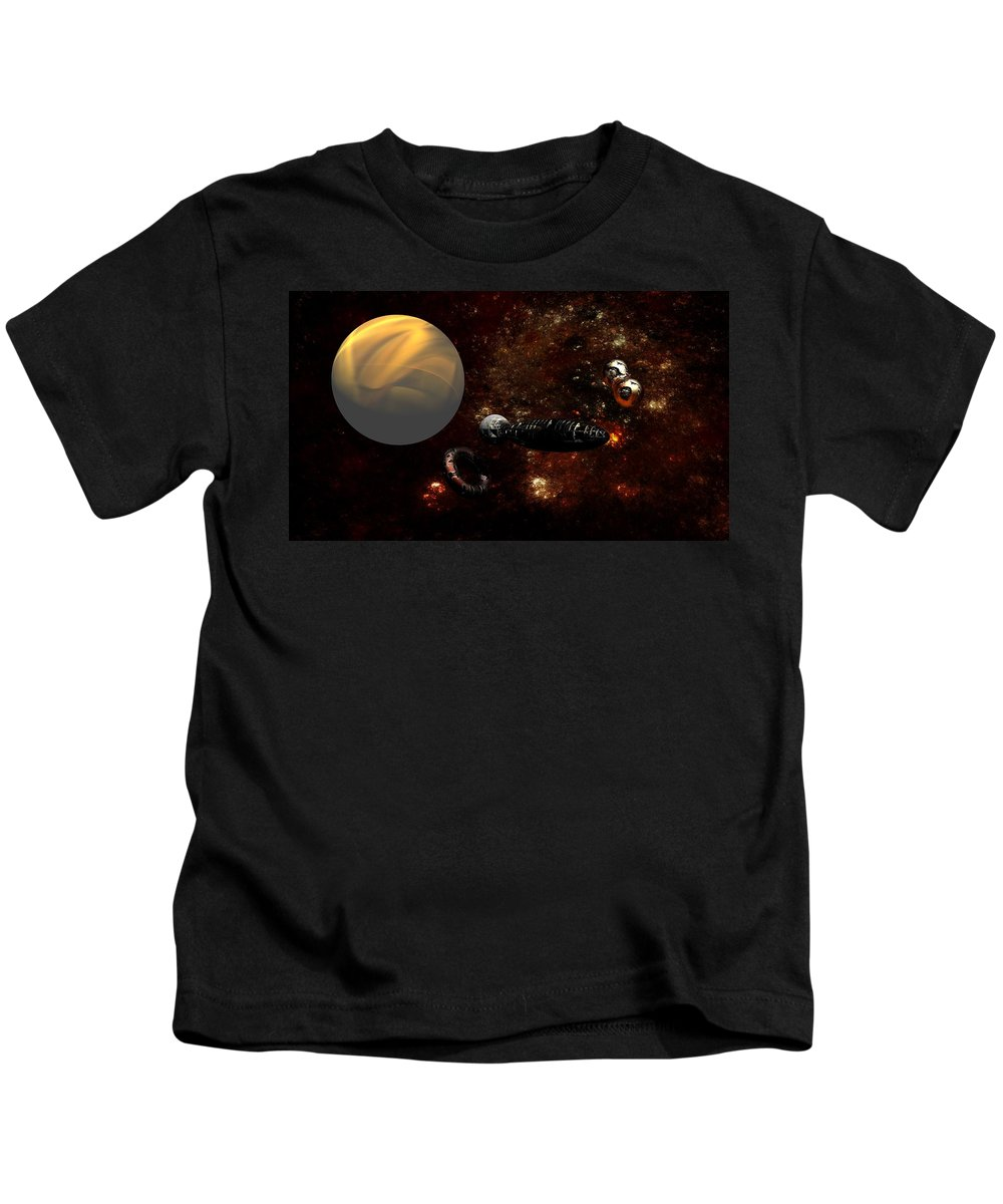 Science Fiction Kids T-Shirt featuring the digital art Under Construction by David Lane