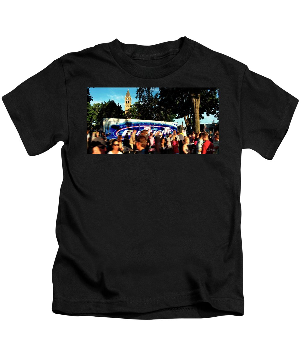 Photography Kids T-Shirt featuring the photograph Under The Watch Tower by Frederic A Reinecke