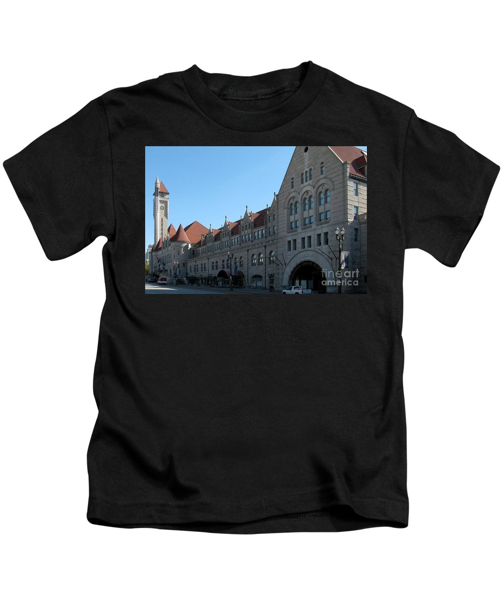 American Kids T-Shirt featuring the photograph Union Station by Alan Look