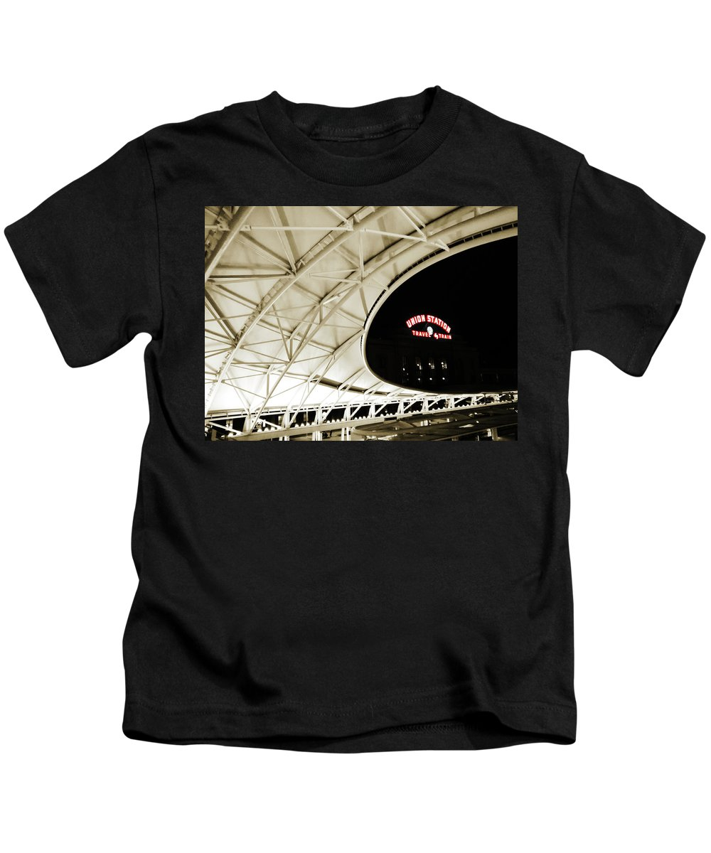 Union Station Kids T-Shirt featuring the photograph Union Station Denver by Marilyn Hunt
