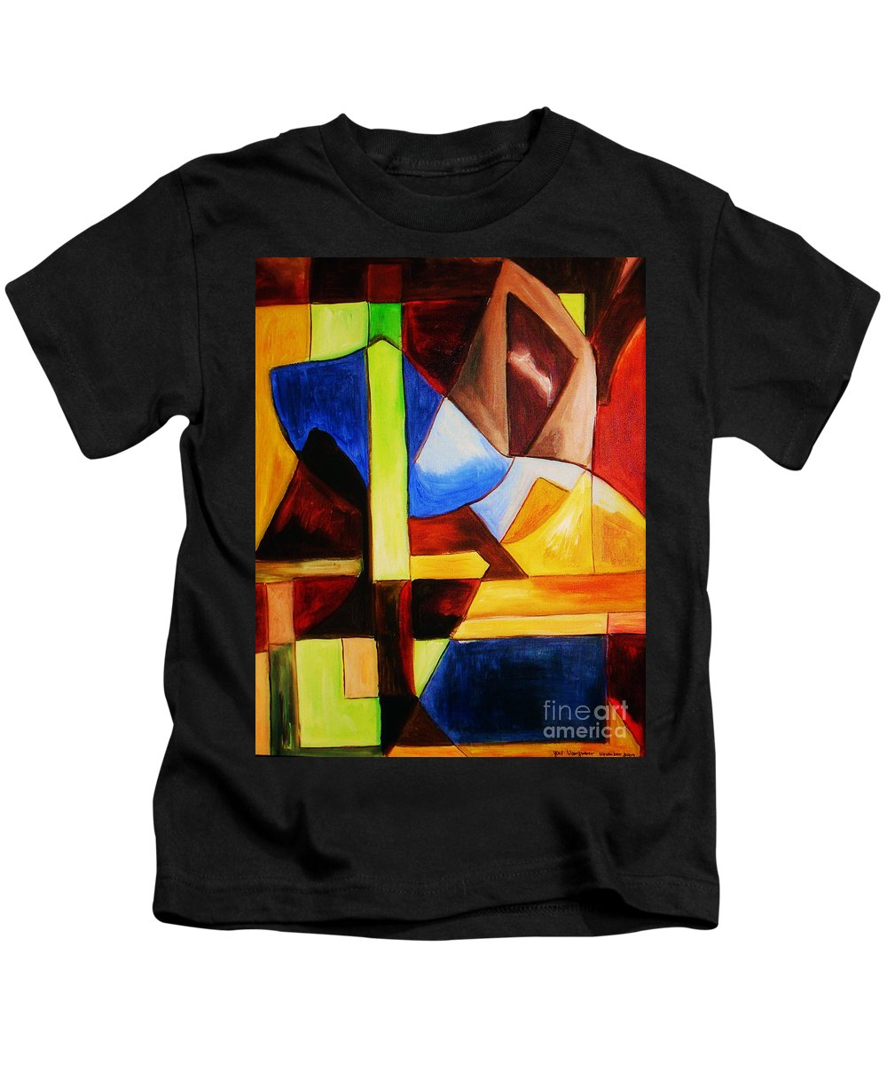 Acrylic Painting Kids T-Shirt featuring the painting Unity by Yael VanGruber