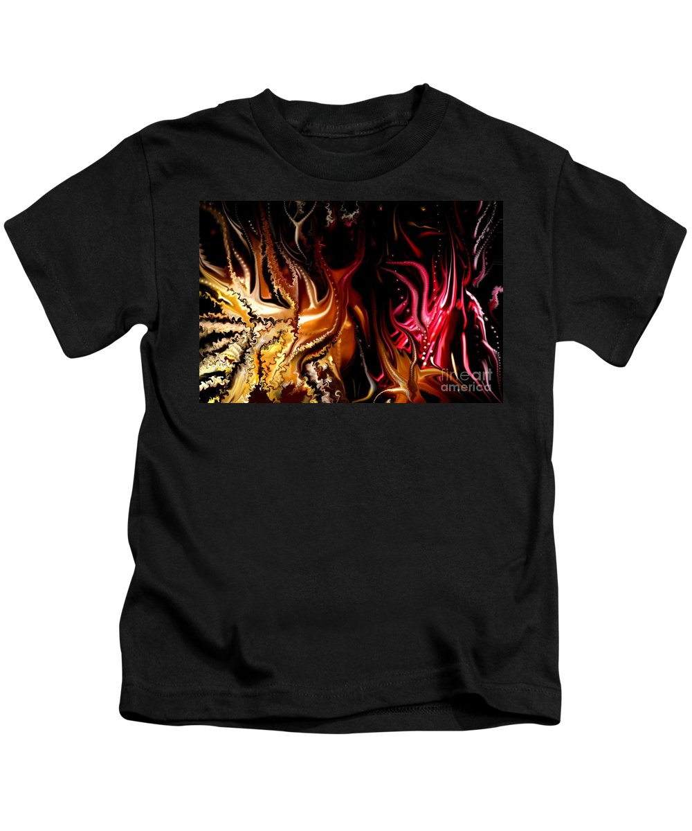 Abstract Kids T-Shirt featuring the digital art Until The End by David Lane