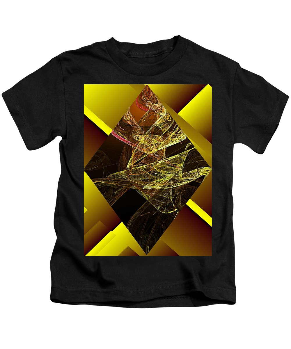 Abstract Digital Painting Kids T-Shirt featuring the digital art Untitled 11-06-09 by David Lane