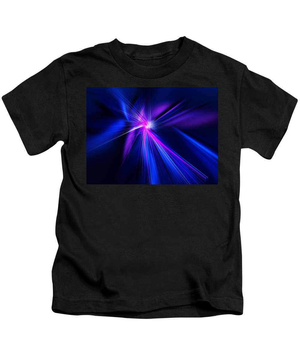 Abstract Digital Painting Kids T-Shirt featuring the digital art Untitled 11-18-09 by David Lane