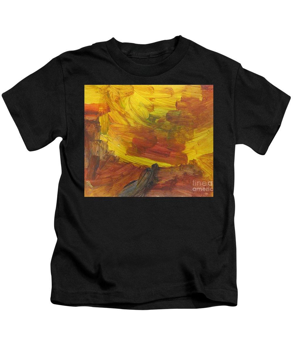 Art Kids T-Shirt featuring the mixed media Untitled 117 Original Painting by Iyanuolowa Adeshina