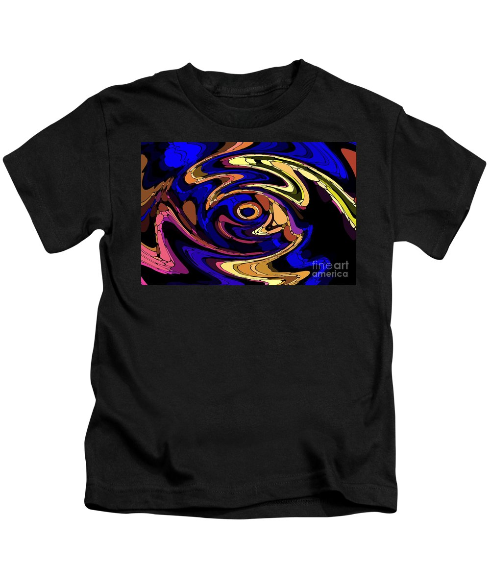 Abstract Kids T-Shirt featuring the digital art Untitled 7-04-09 by David Lane