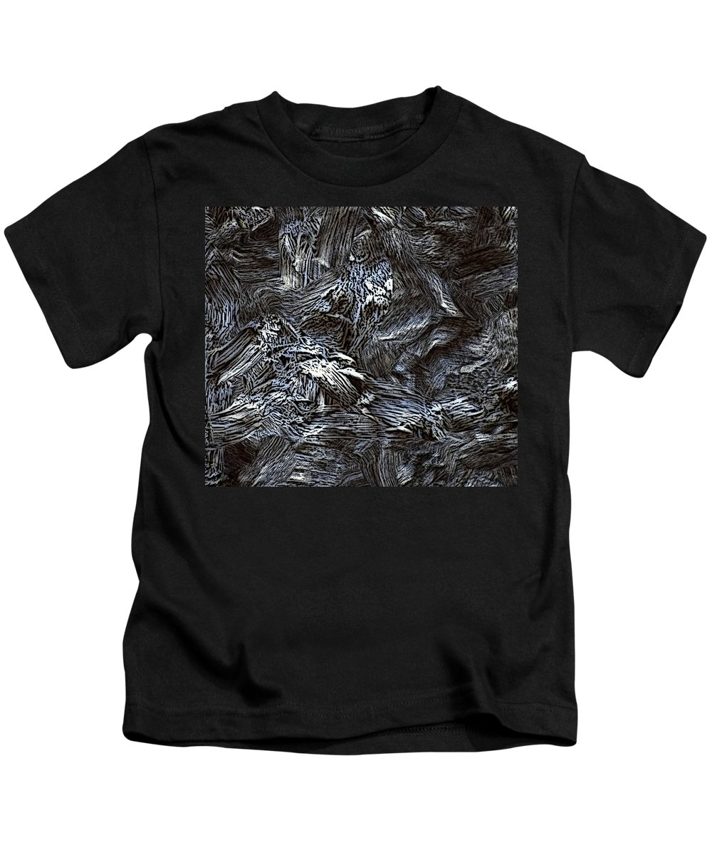 Abstract Digital Painting Kids T-Shirt featuring the digital art Untitled11-14-09 by David Lane