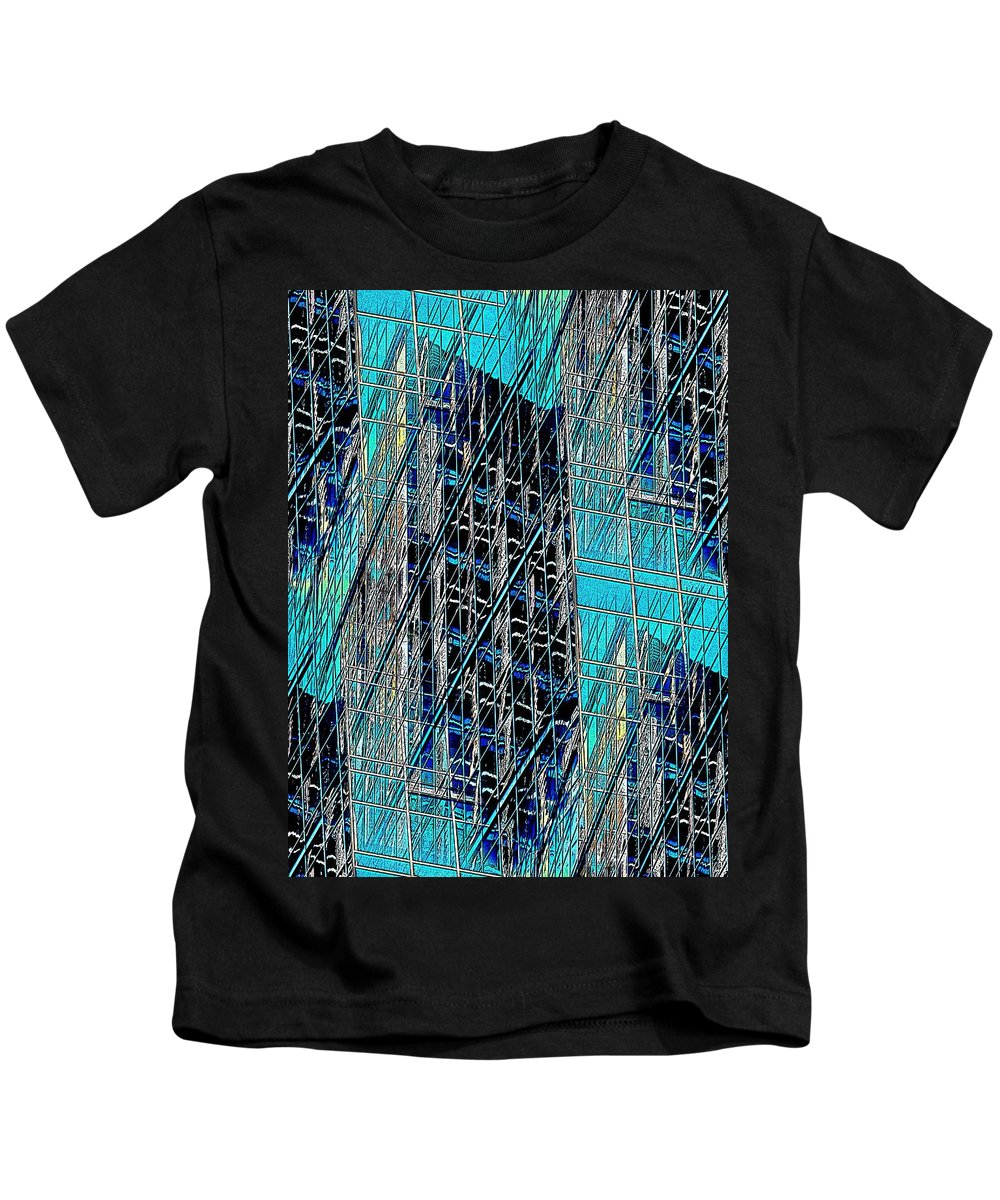 Reflection Kids T-Shirt featuring the digital art Upon Reflection by Tim Allen