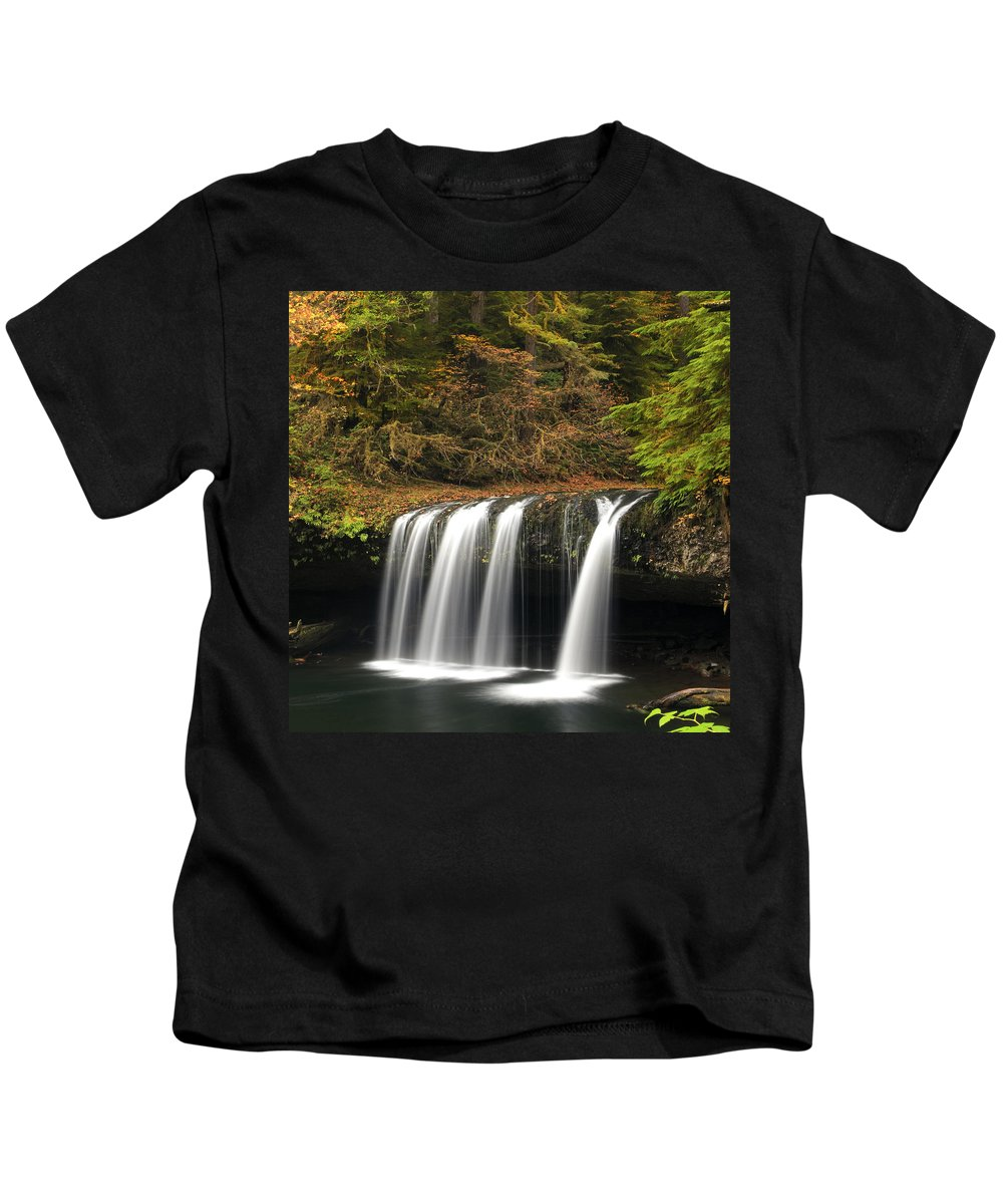Columbia Gorge Kids T-Shirt featuring the photograph Upper Butte Creek Falls 2 by Ingrid Smith-Johnsen
