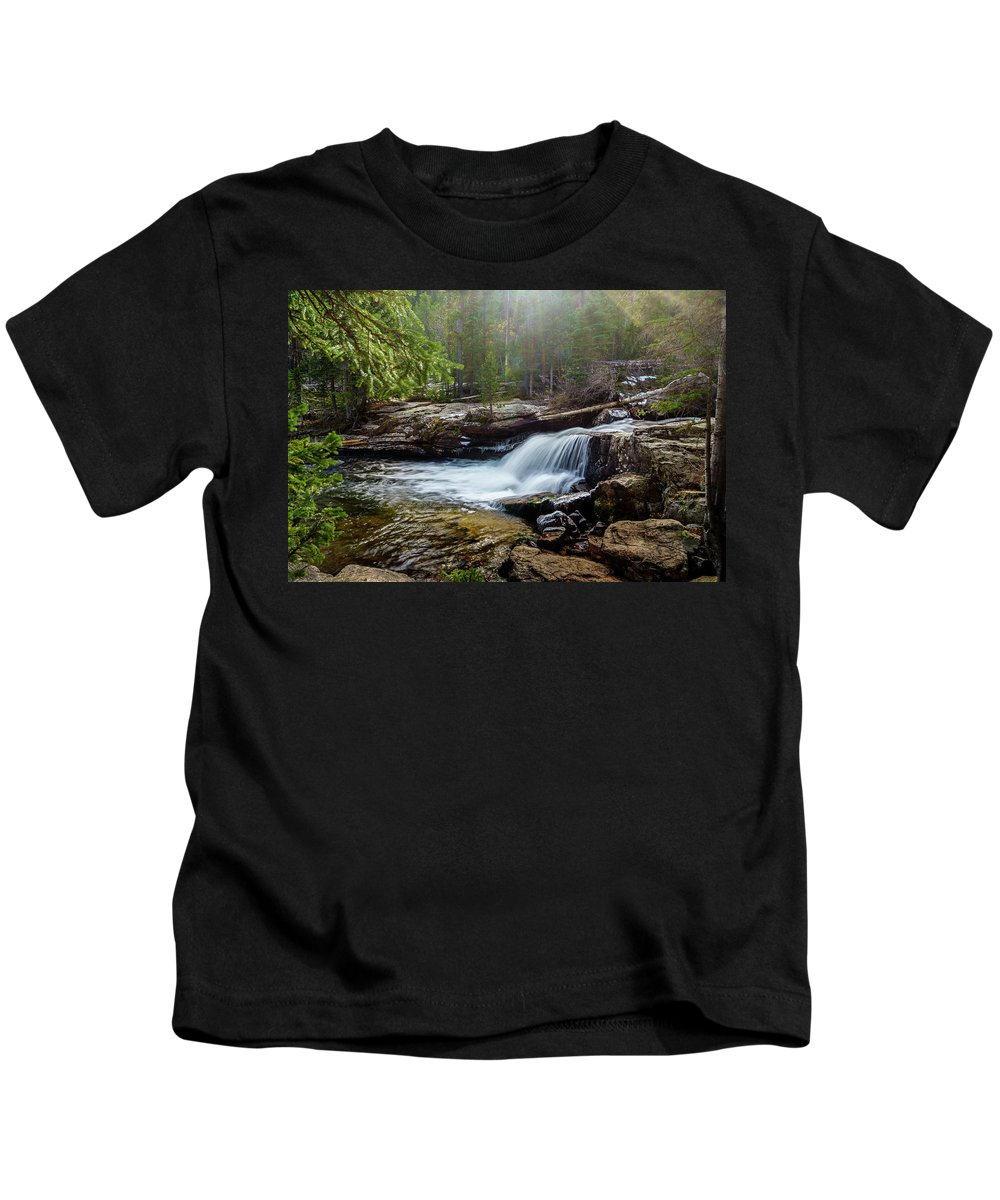 Water Kids T-Shirt featuring the photograph Upper Copeland Falls by Bruce Tracy