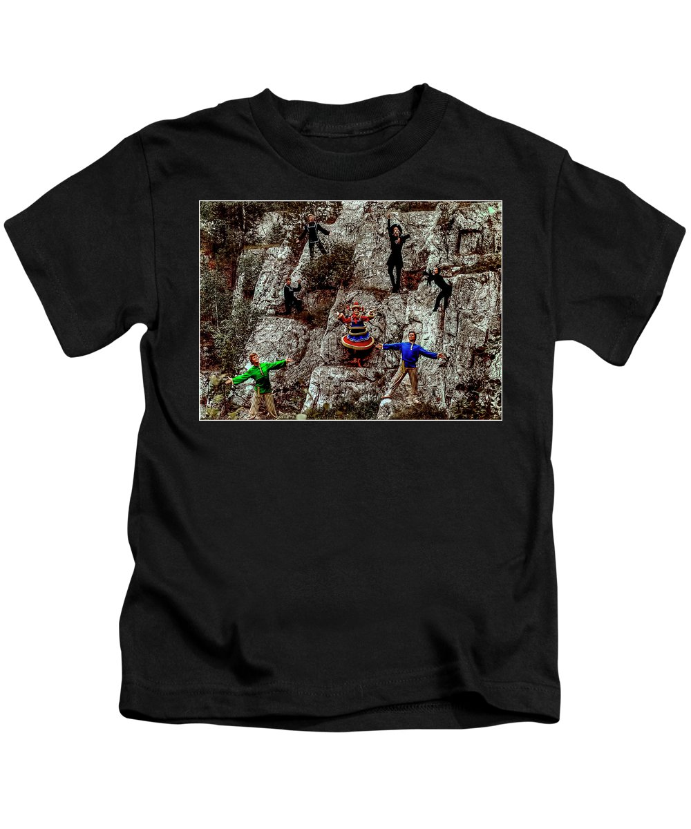 Folk Group Kids T-Shirt featuring the photograph Ural's Folk Group by Vladimir Kholostykh