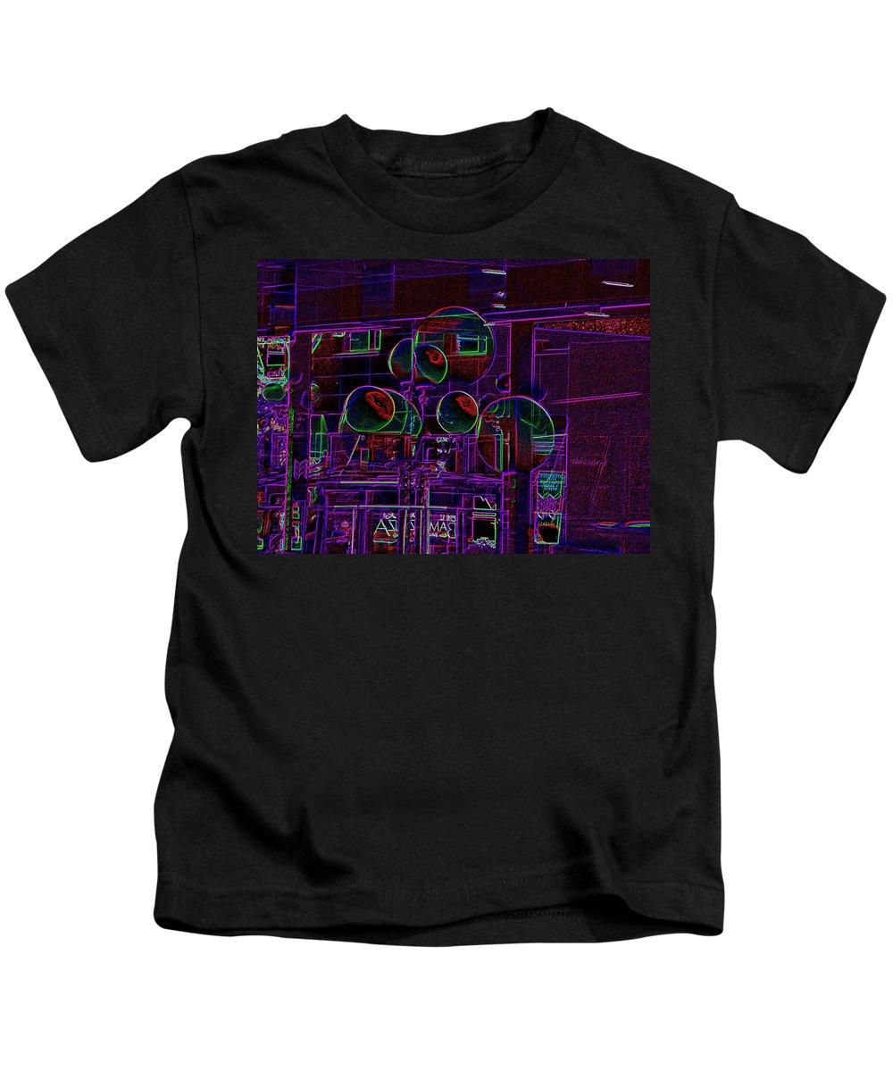 Street Kids T-Shirt featuring the digital art Urban Street Scene by Tim Allen