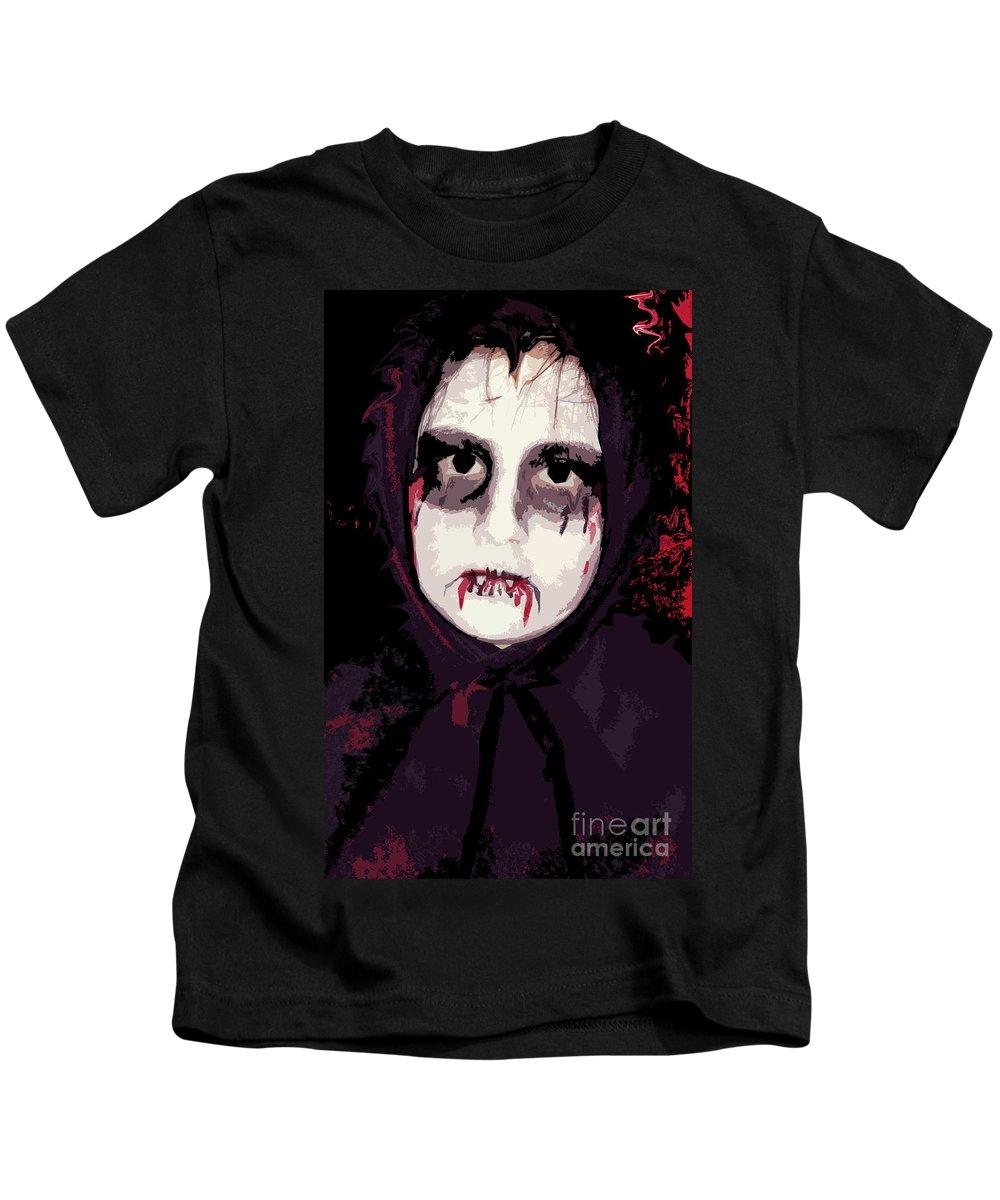 Vampire Kids T-Shirt featuring the photograph Vampire II by Rhonda Chase