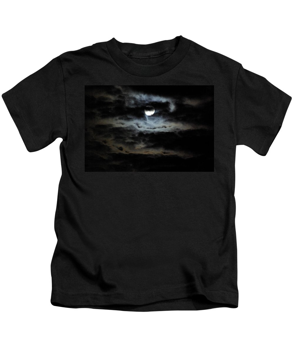 Moon Kids T-Shirt featuring the photograph Vampire Skies by Cindy Johnston