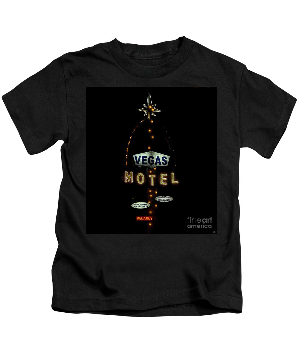 Art Kids T-Shirt featuring the painting Vegas Motel by David Lee Thompson