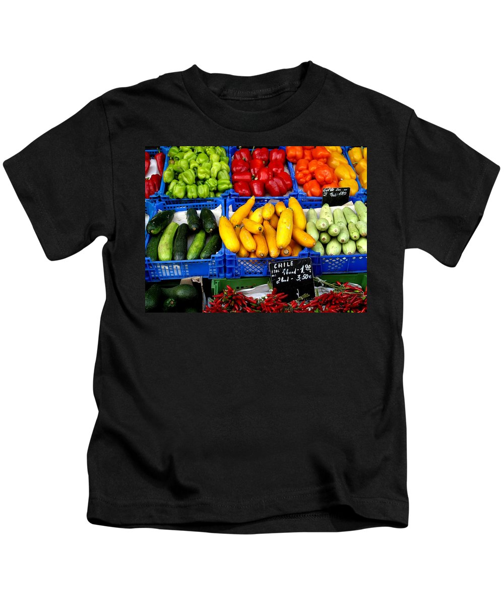 Vegetables Kids T-Shirt featuring the photograph Vegetables by Ian MacDonald