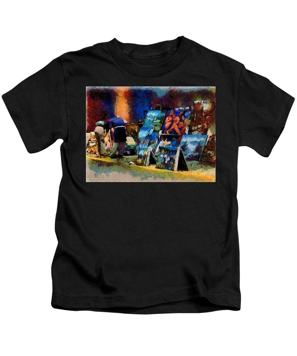 Paints Kids T-Shirt featuring the photograph Vendedor De Pinturas by Galeria Trompiz