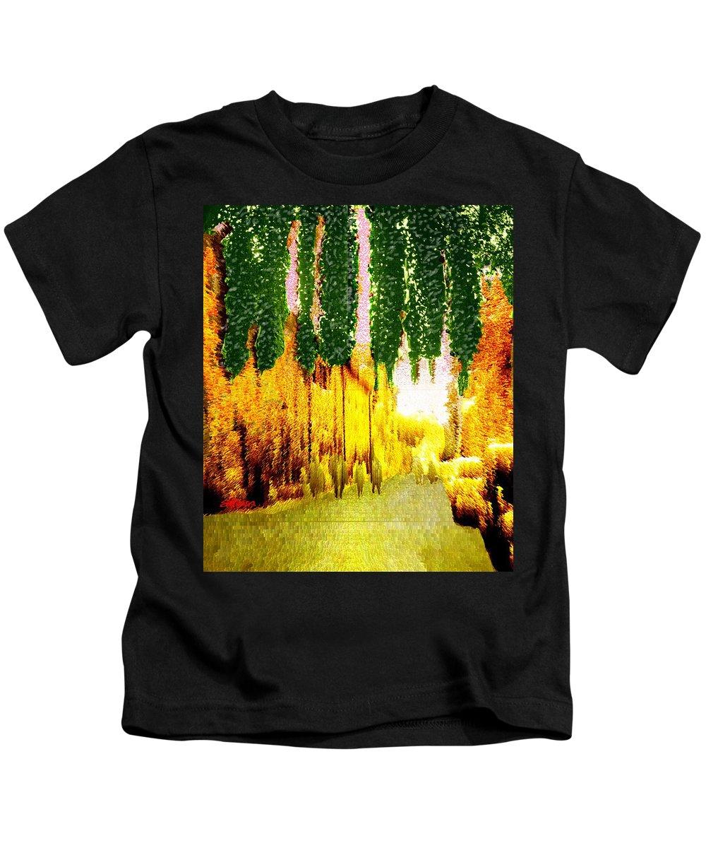Via Pietra Kids T-Shirt featuring the digital art Via Pietra by Seth Weaver