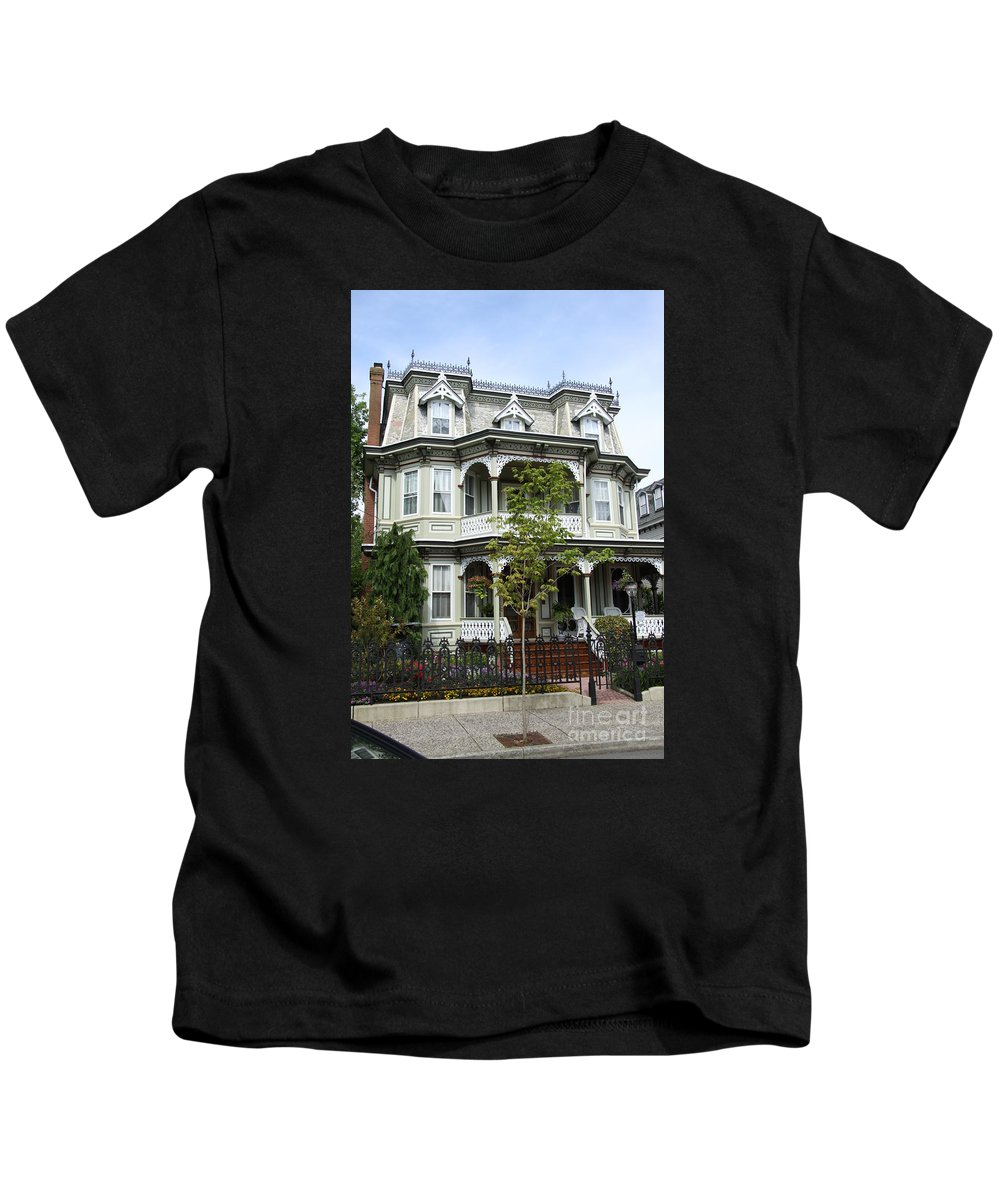 Victorian House Kids T-Shirt featuring the photograph Victorian House by Christiane Schulze Art And Photography