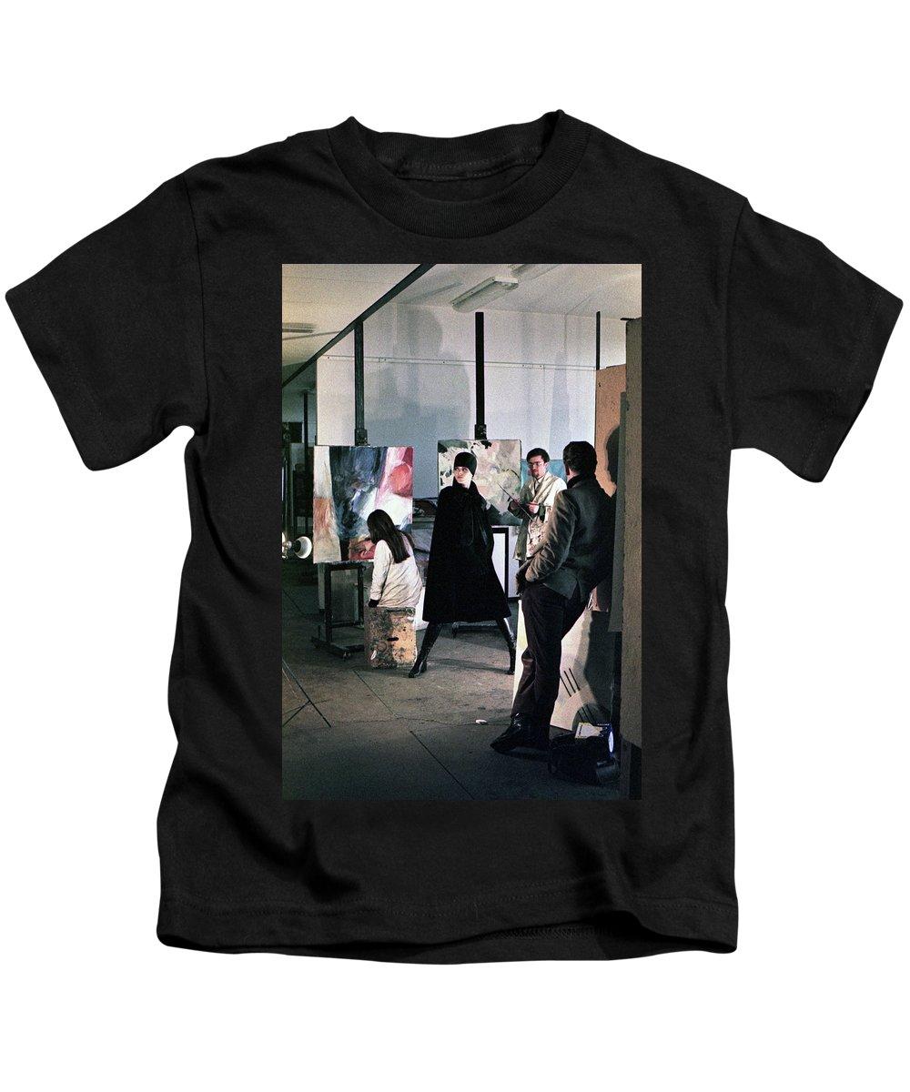Wien Kids T-Shirt featuring the photograph Vienna Fashion Shoot 1968 by Lee Santa
