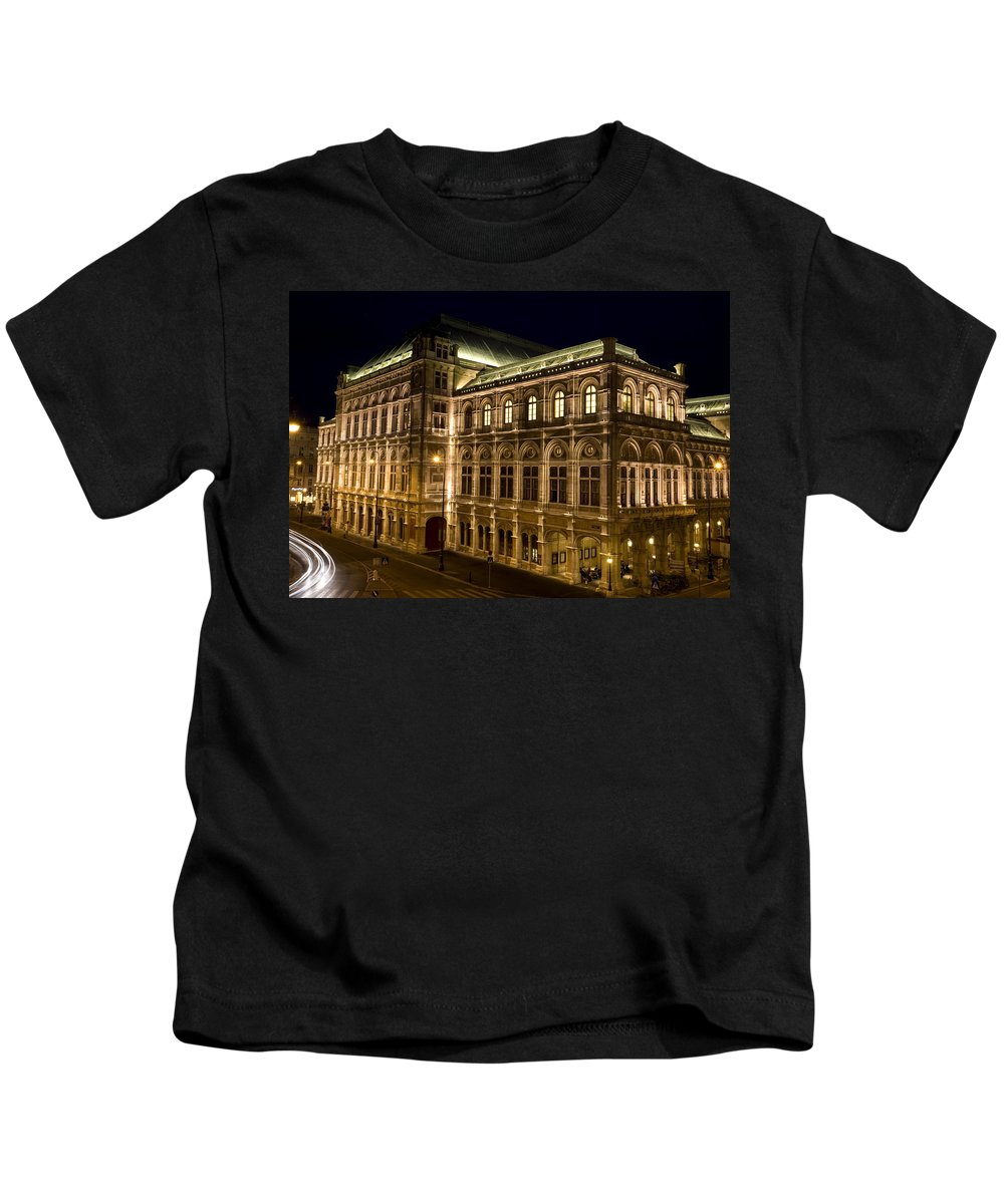 Vienna Kids T-Shirt featuring the photograph Vienna State Opera by Julian Wicksteed