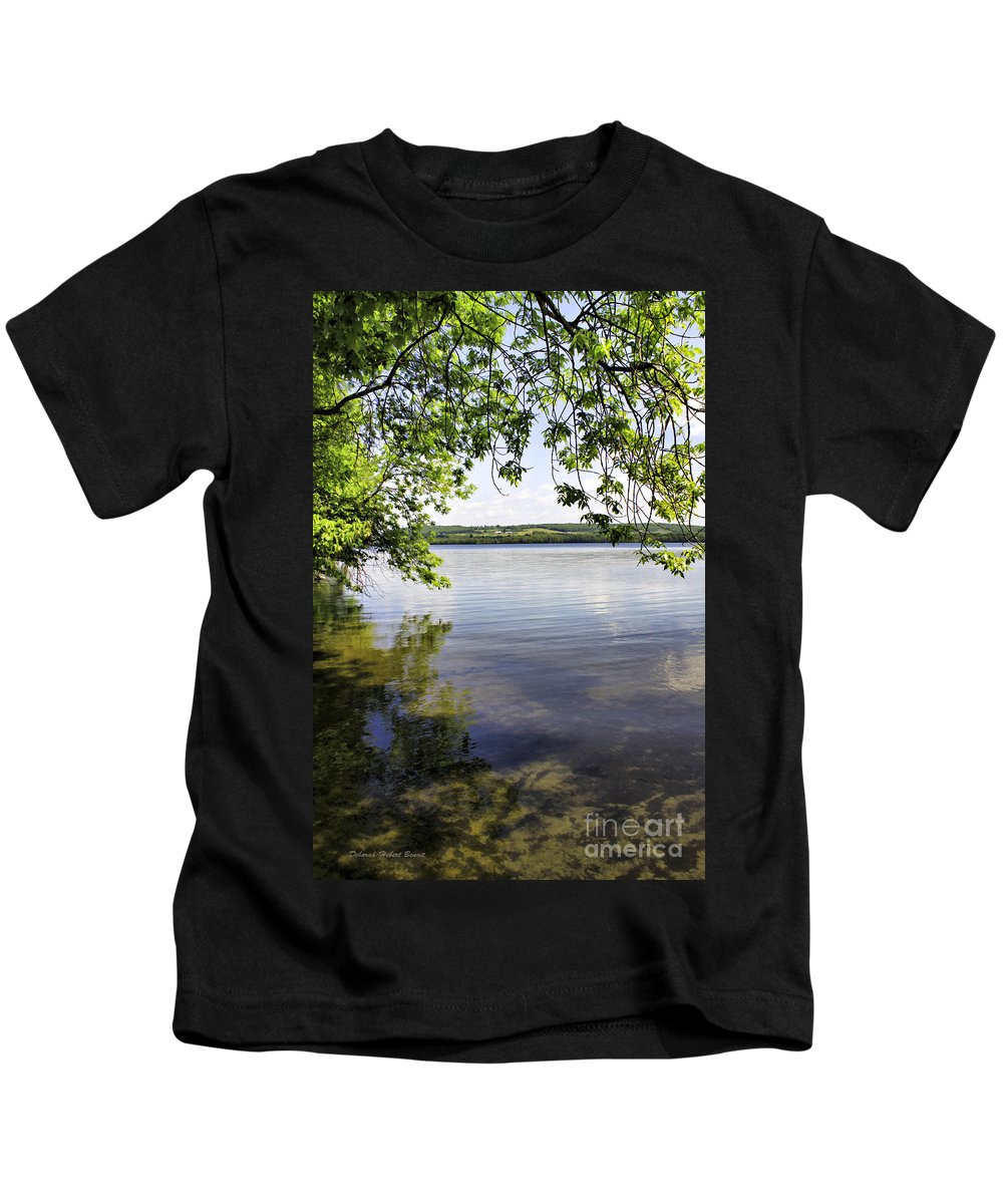 Vermont Kids T-Shirt featuring the photograph View From Under At Lake Carmi by Deborah Benoit