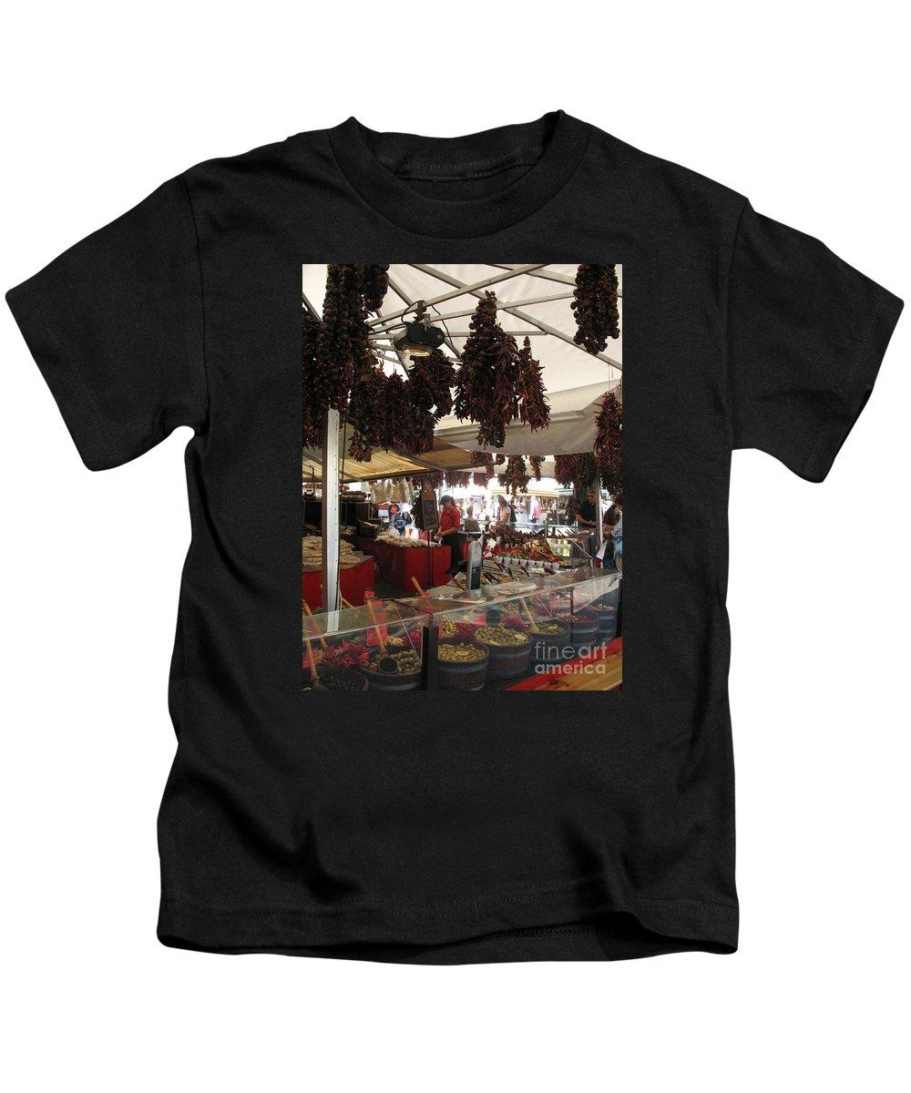 Market Kids T-Shirt featuring the photograph Viktualienmarkt - Munich by Christiane Schulze Art And Photography