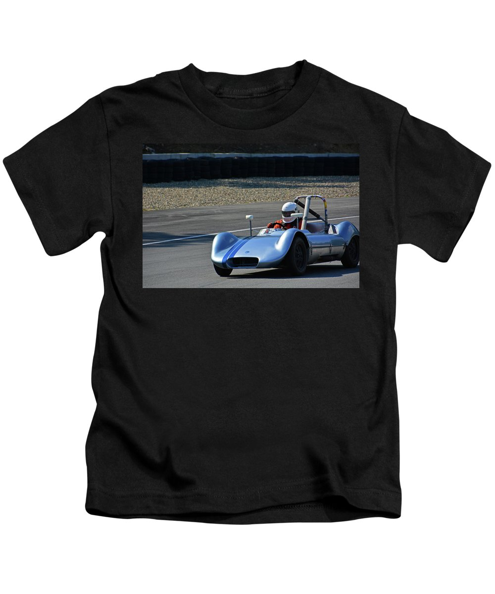Vintage Kids T-Shirt featuring the photograph Vintage 1958 Elva Mk5 by Mike Martin
