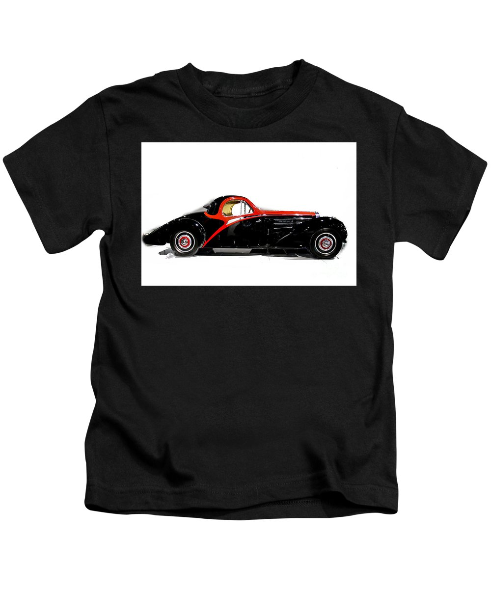 Bugatti Kids T-Shirt featuring the photograph Vintage Bugatti by Tom Griffithe