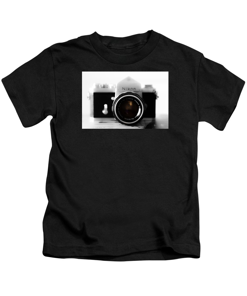 Vintage Camera Kids T-Shirt featuring the photograph Vintage Camera C20m by Otri Park