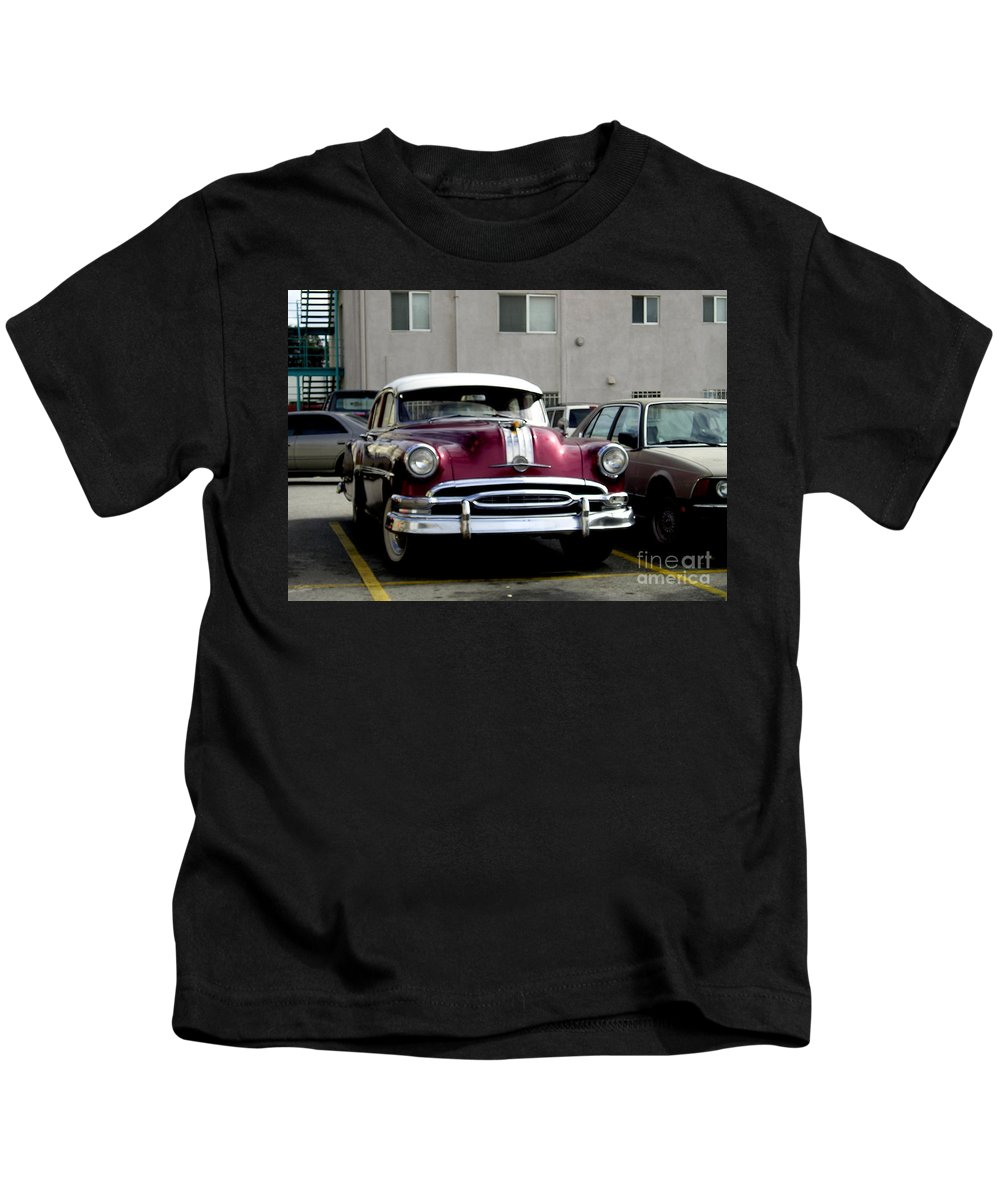 Vintage Kids T-Shirt featuring the photograph Vintage Car From 1940's Era by Sofia Metal Queen