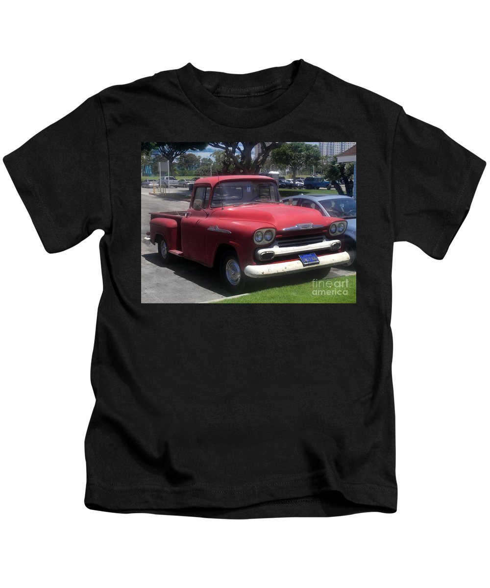 Vintage Kids T-Shirt featuring the photograph Vintage Chevrolet Apache 32 Pickup by Sofia Metal Queen