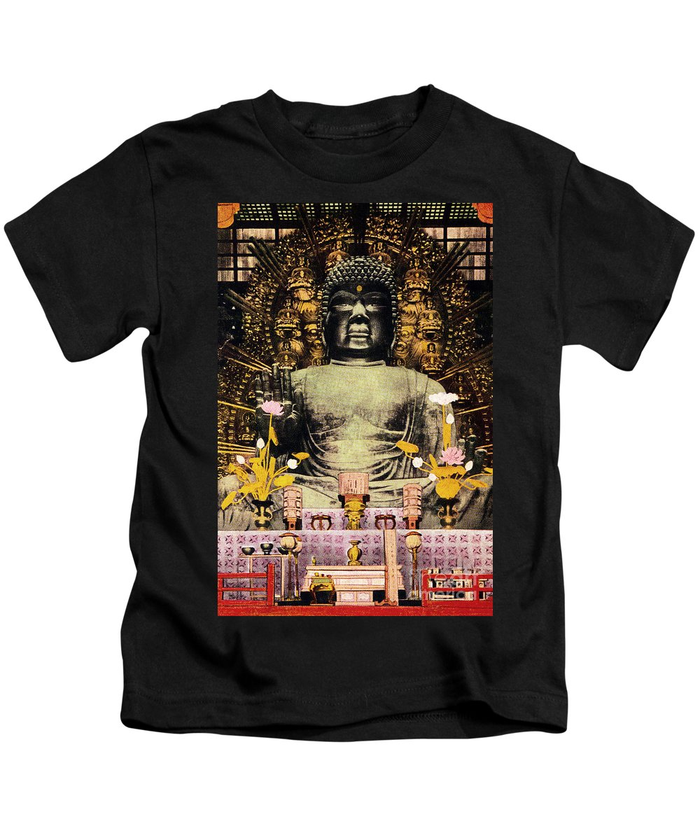 Archival Kids T-Shirt featuring the painting Vintage Japanese Art 24 by Hawaiian Legacy Archive - Printscapes