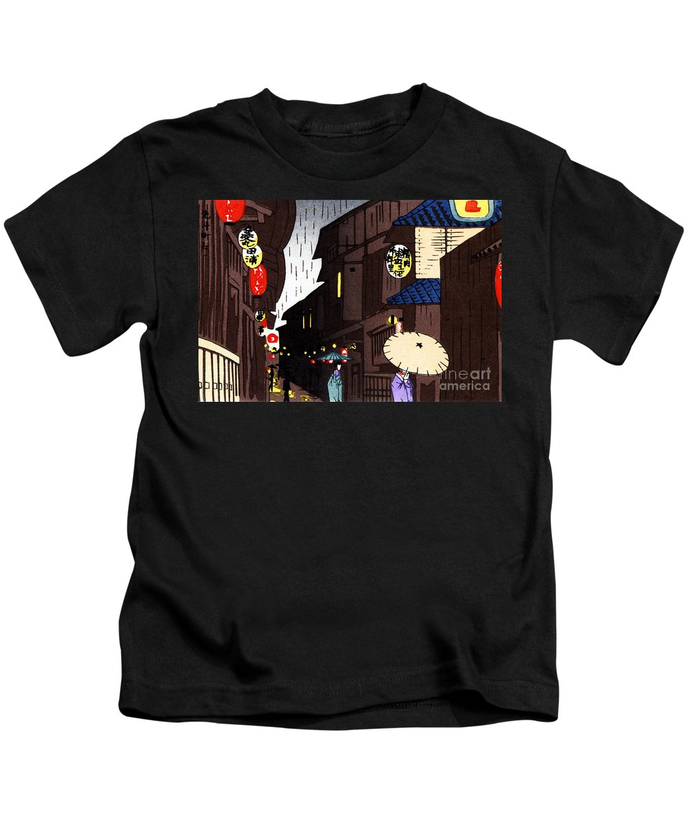 Alley Kids T-Shirt featuring the painting Vintage Japanese Art 26 by Hawaiian Legacy Archive - Printscapes