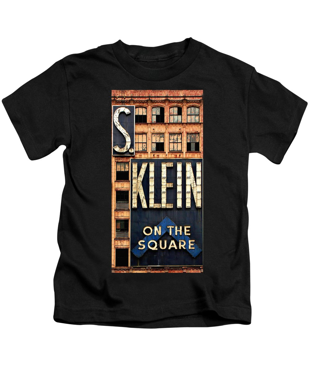 S Klein Kids T-Shirt featuring the photograph Vintage Retail Sign by Andrew Fare