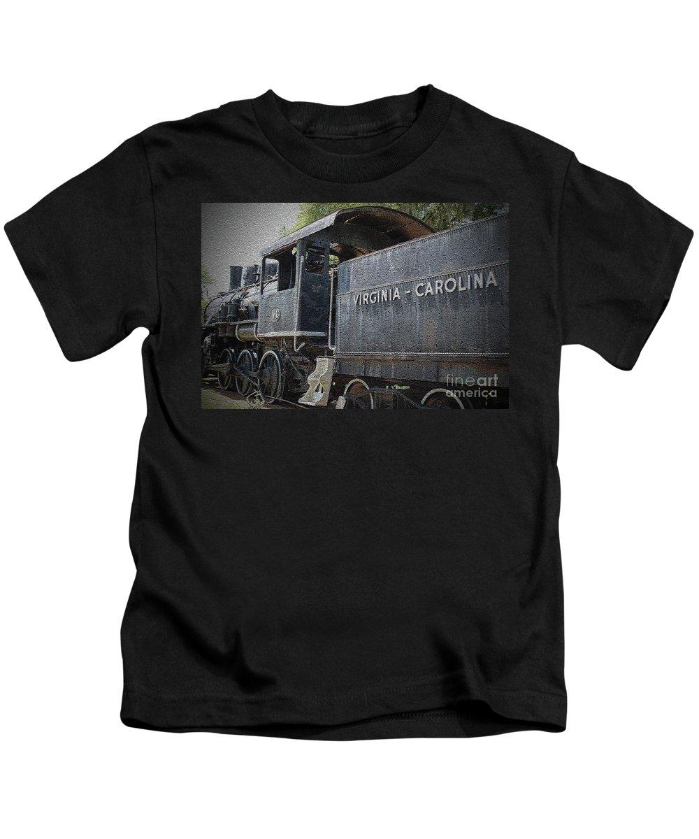 Vintage Kids T-Shirt featuring the photograph Vintage Train by Jost Houk
