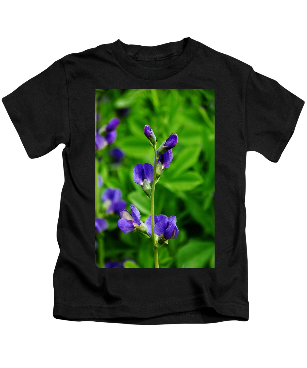 Indigo Kids T-Shirt featuring the photograph Violet Blue by Debbie Oppermann