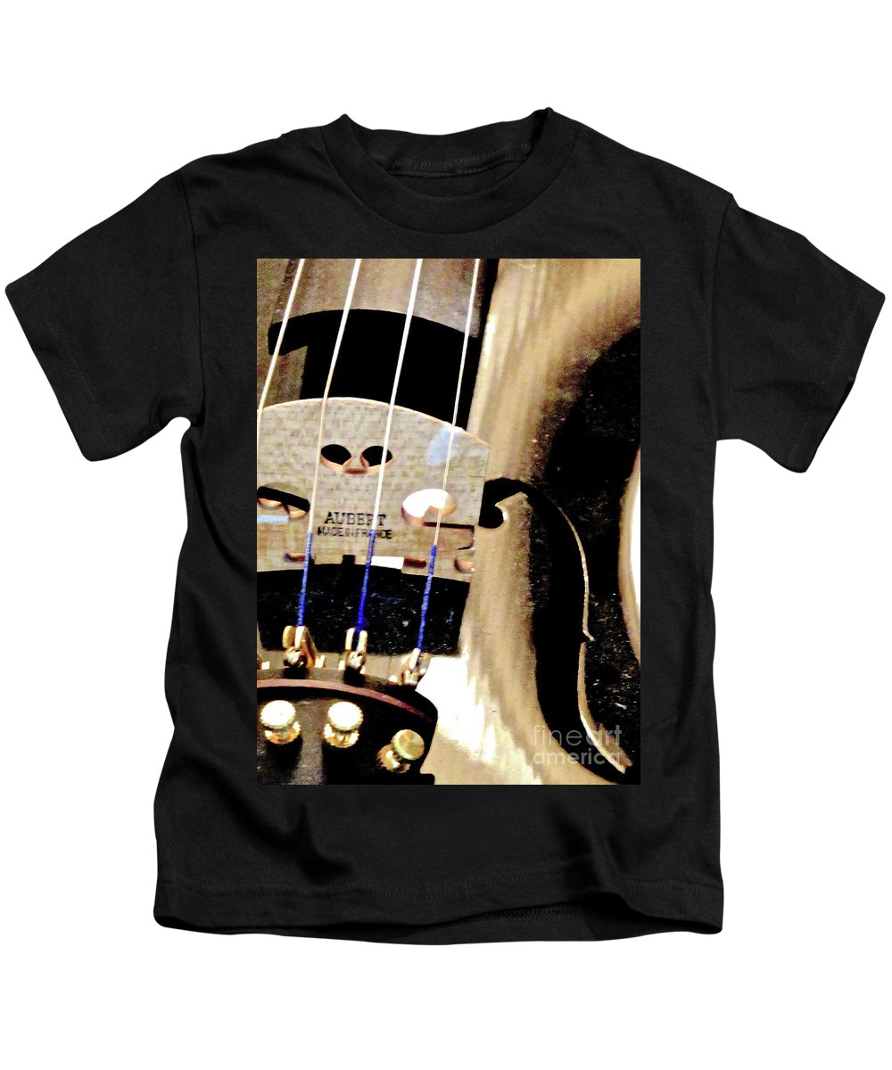 Violin Kids T-Shirt featuring the photograph Violin 2a by Ken Lerner