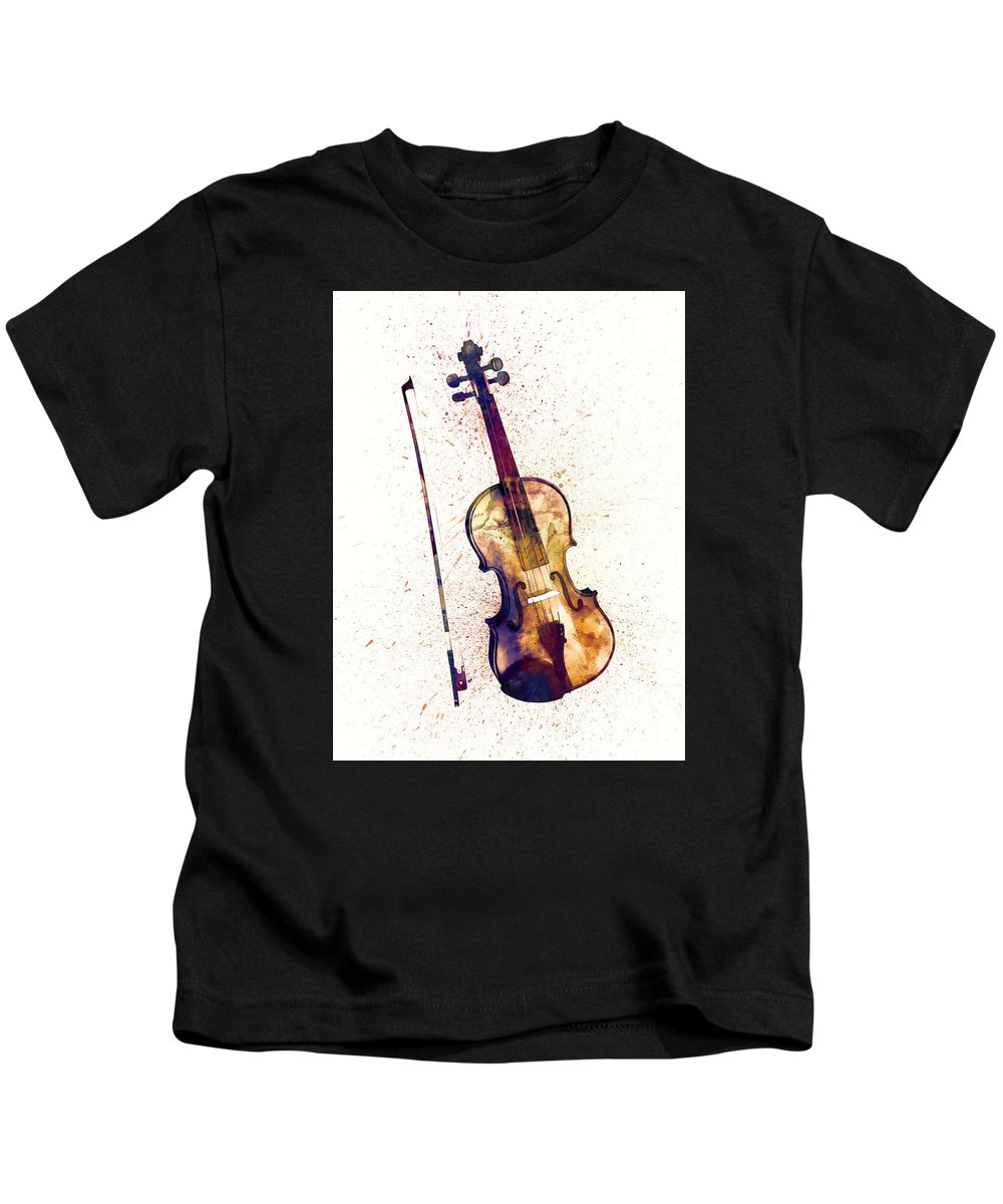 2959a9a962 Violin Abstract Watercolor Kids T-Shirt for Sale by Michael Tompsett