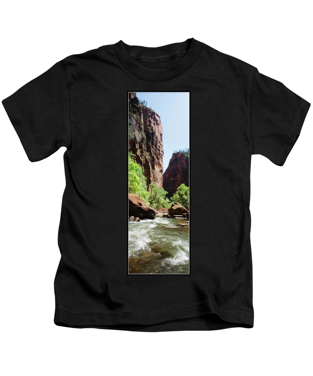 Utah Kids T-Shirt featuring the photograph Virgin River by Gravityx9 Designs