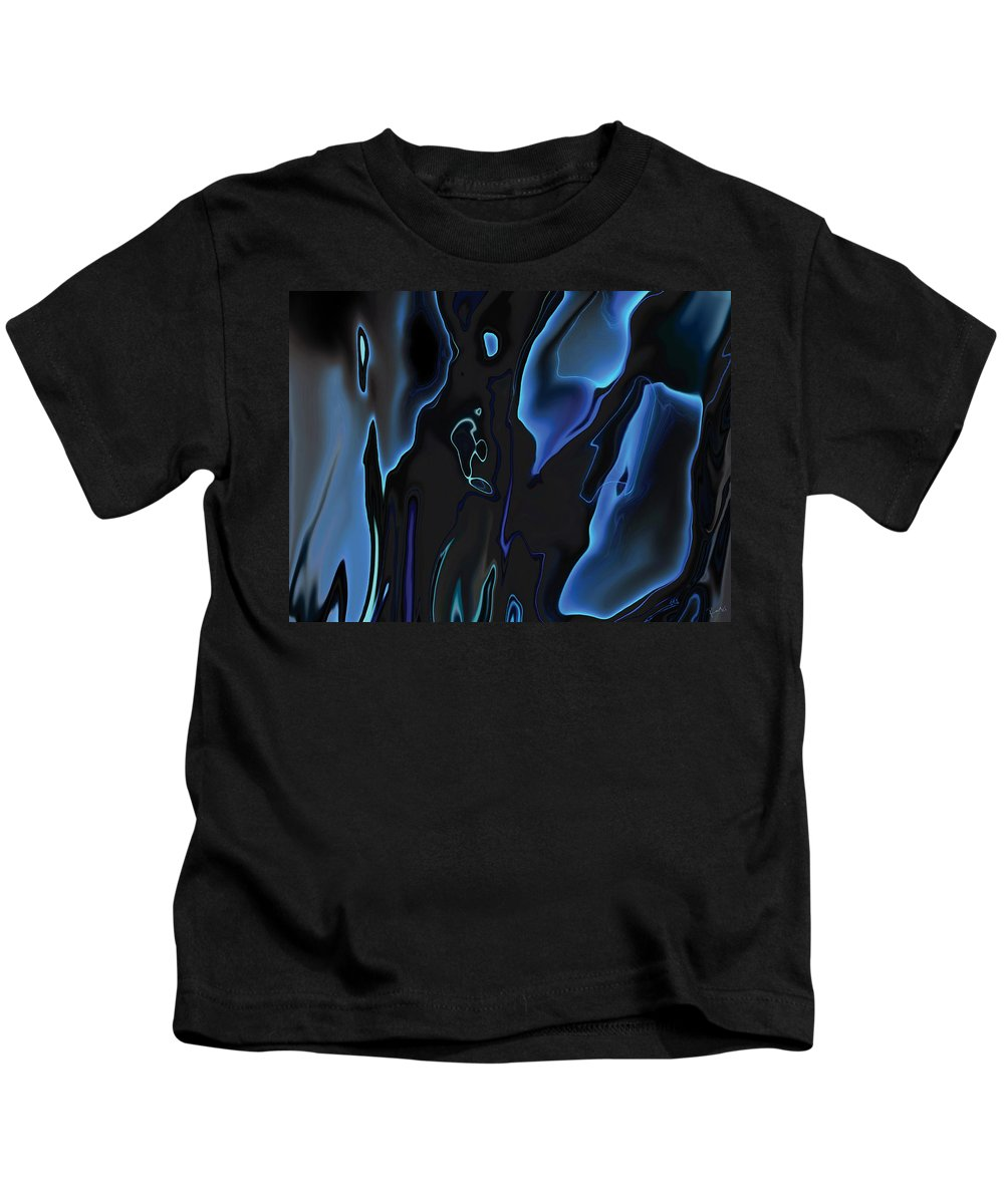 Abstract Kids T-Shirt featuring the digital art Virtual Life 1 by Rabi Khan