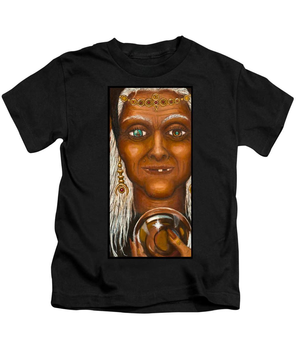 Fantasy Kids T-Shirt featuring the digital art Visions by Roz Eve
