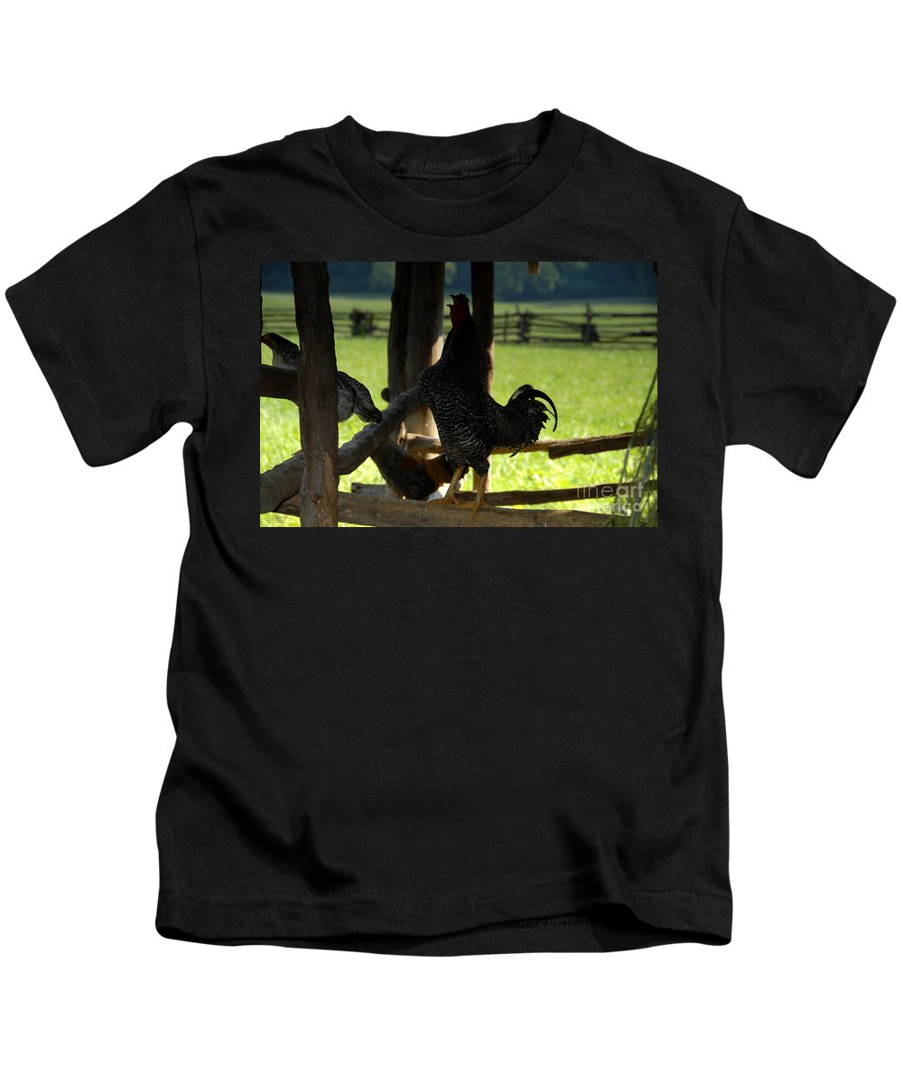 Farm Kids T-Shirt featuring the photograph Voice Of The Farm by David Lee Thompson